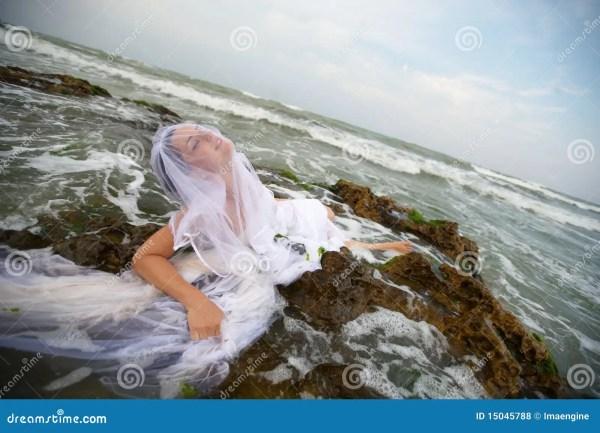 Neptunes Mermaid Bride Royalty Free Stock