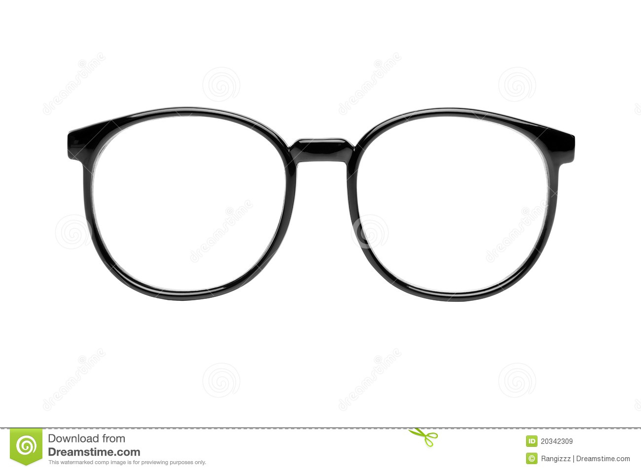 Nerd Glasses With Clipping Path Royalty Free Stock Images