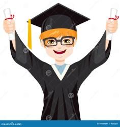 graduation student happy boy nerd haired vector holding both hands diplomas two cartoon sonderlings shutterstock degree pic