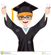 nerd student graduation boy stock
