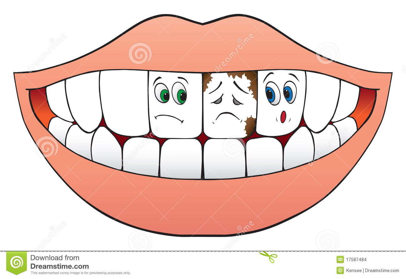Nervous Teeth Stock Vector Illustration Of Frightened