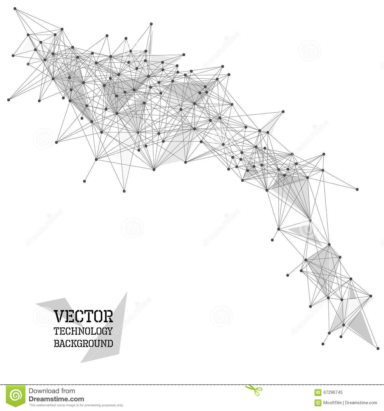 Network Abstract Polygonal Background Stock Vector