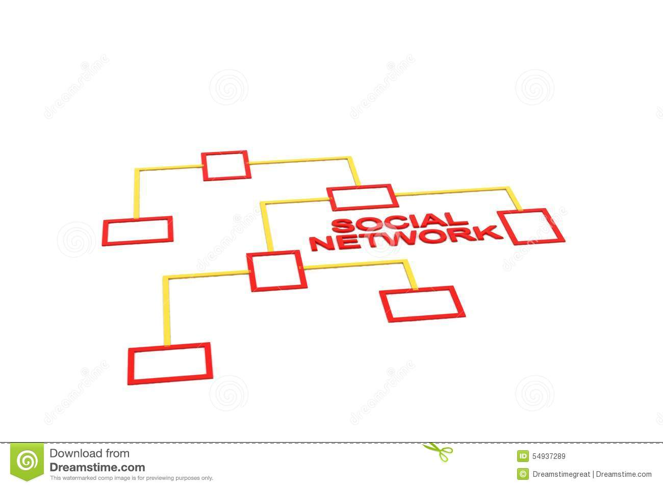 Network Connection Diagram Stock Illustration Image 54937289