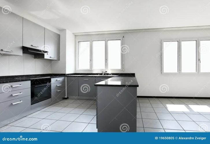 New Apartment Empty Kitchen Royalty Stock