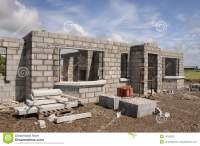 New Build Concrete Stone House Stock Photo - Image: 10183090
