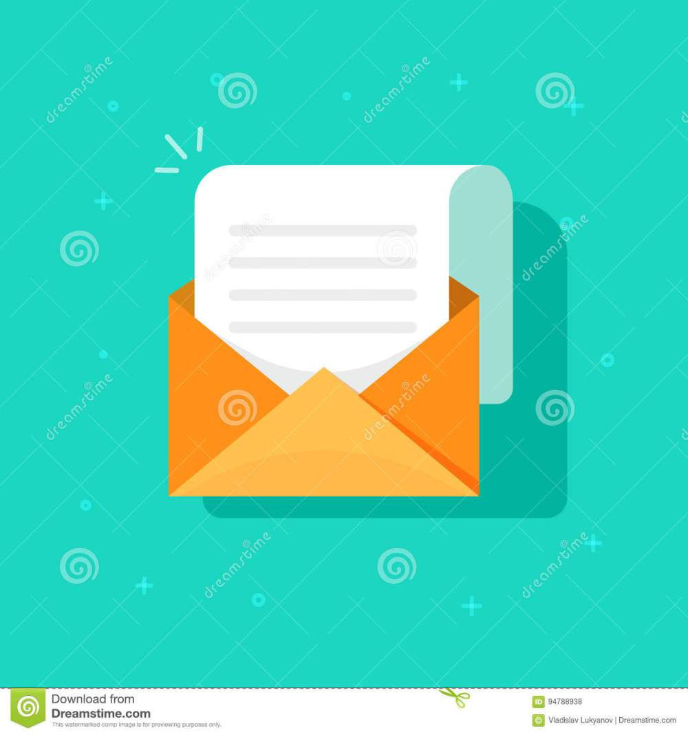 medium resolution of new email message icon flat carton envelope with open mail correspondence e mail