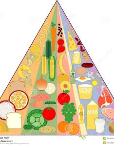 New food pyramid chart also stock vector illustration of diet rh dreamstime
