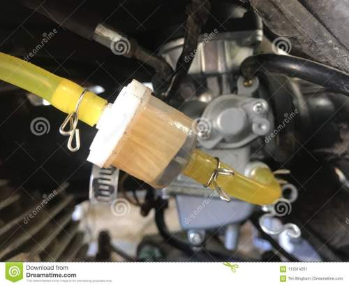 small resolution of new fuel filter and fuel lines
