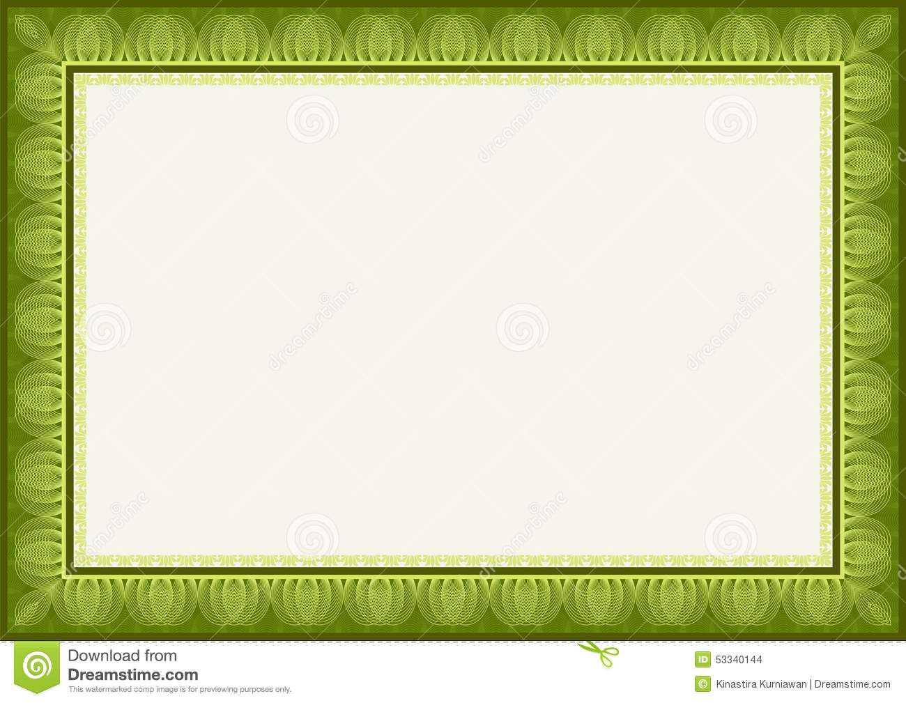 New 2015 Green Certificate And Diploma Template Stock Vector Image 53340144