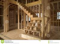 New House Construction Interior Stock Photo - Image of ...