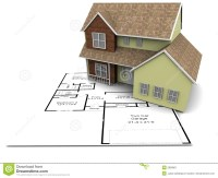 New house plans stock illustration. Illustration of house