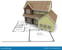 New house plans stock illustration. Illustration of house