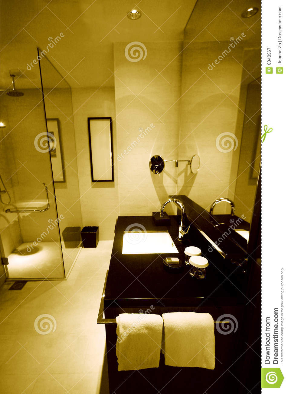 New Luxury Resort Hotel Bathrooms Stock Image  Image of