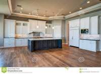 New Modern Home Mansion Kitchen Stock Photo - Image of ...