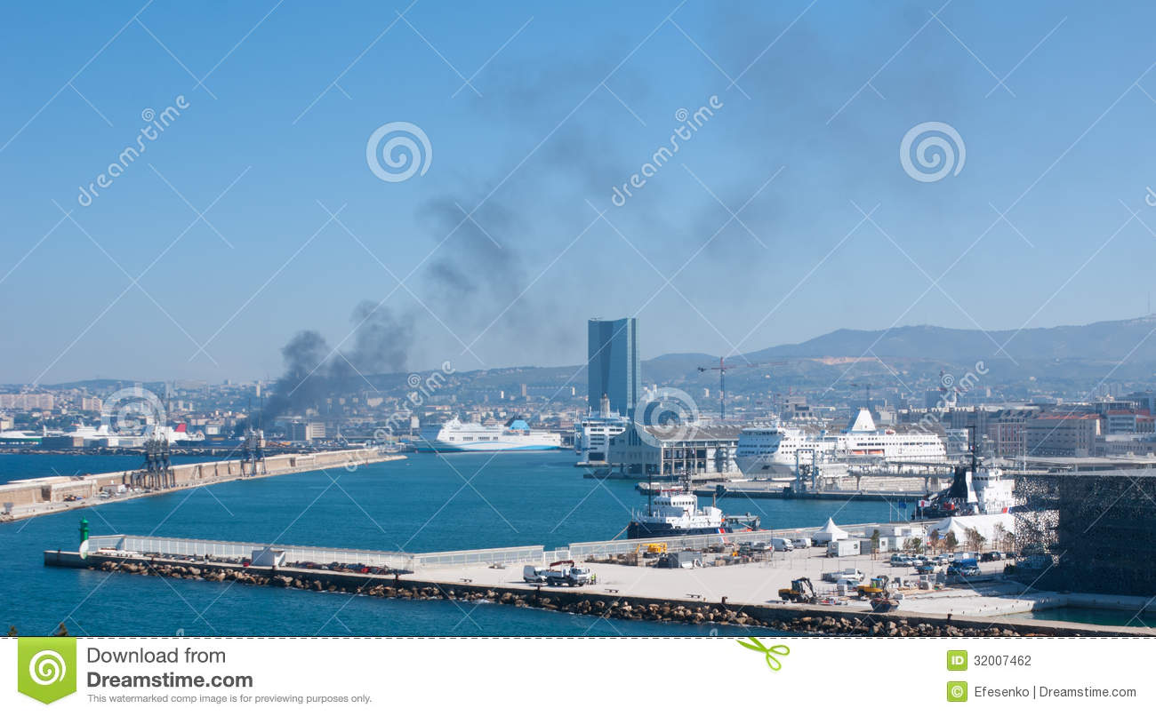 The New Port Of Marseille Stock Photo Image Of Construction 32007462