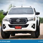 New Toyota Hilux Revo Rocco White Pickup Truck Offroad Car Double Cab 4x4 Editorial Photo Image Of City Manufacturer 138062901