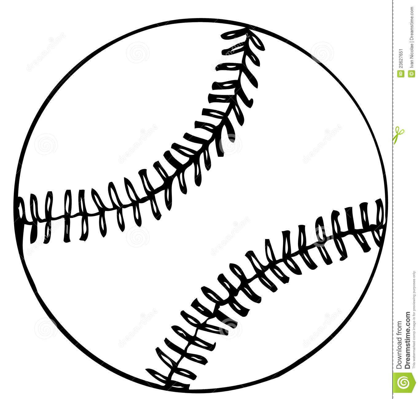 New Vector Baseball stock illustration. Image of game