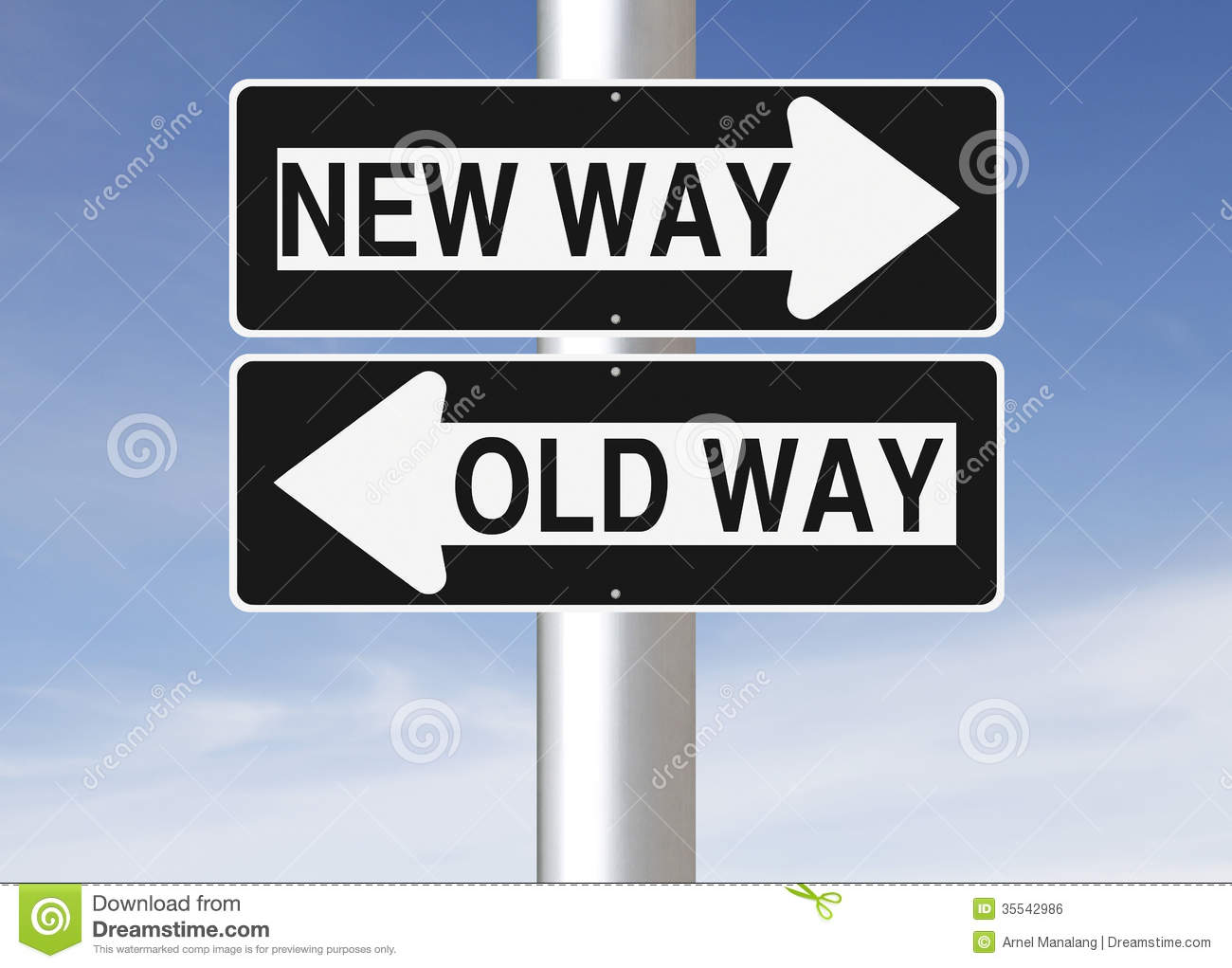 hight resolution of conceptual one way road signs on change or choices