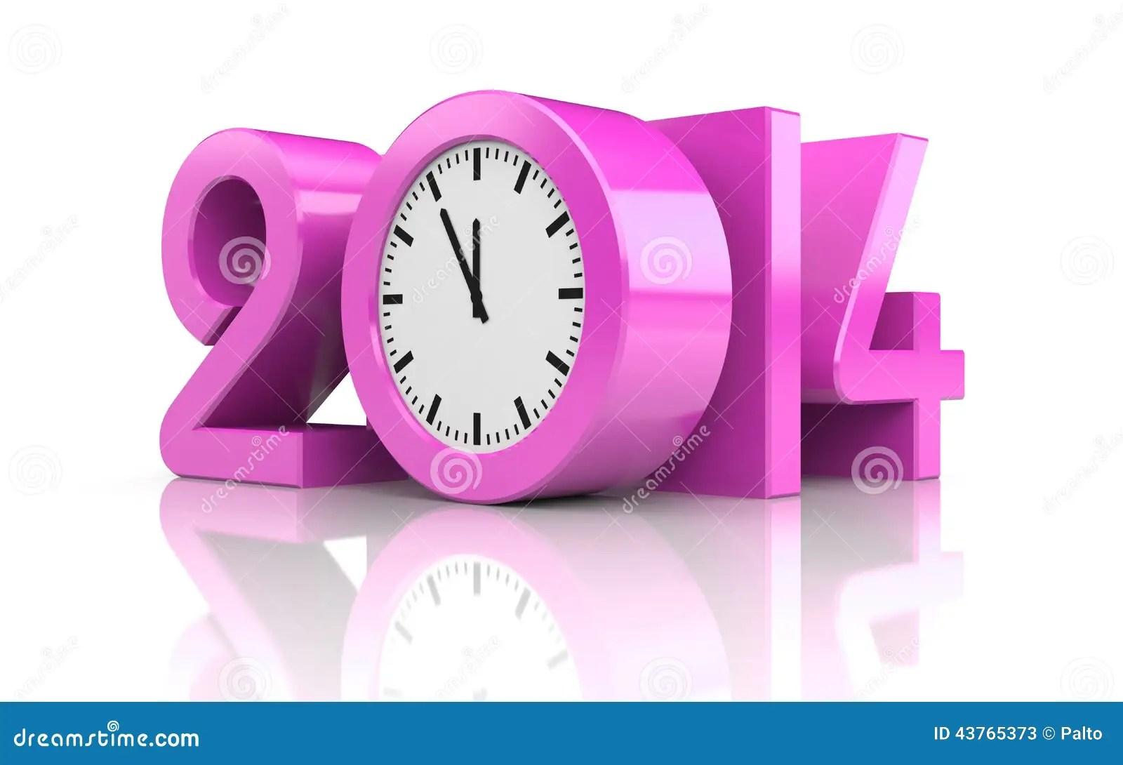 New Year With Reflection Stock Illustration Illustration
