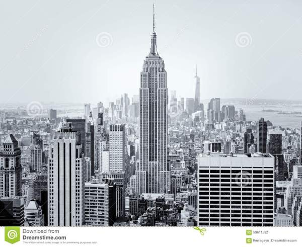 Cartoon Empire State Building in New York City