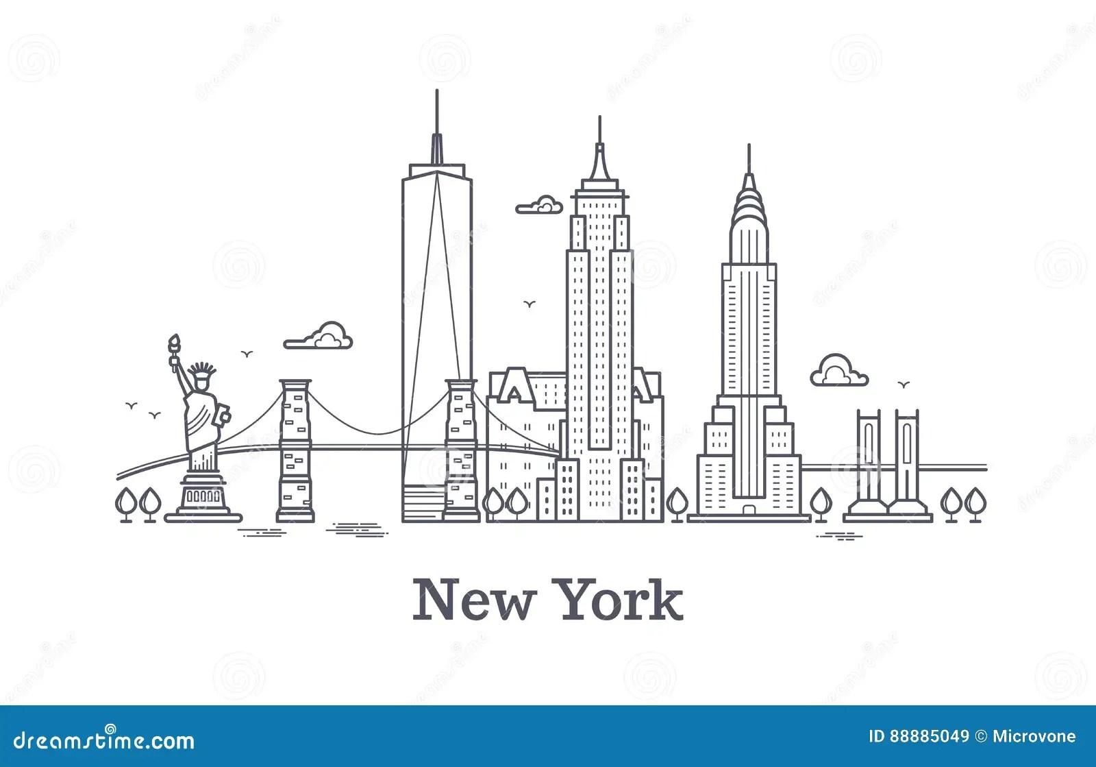 New York City Background Concept Stock Photo