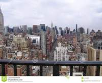 New York City View From The Hotel Balcony Stock Photo ...