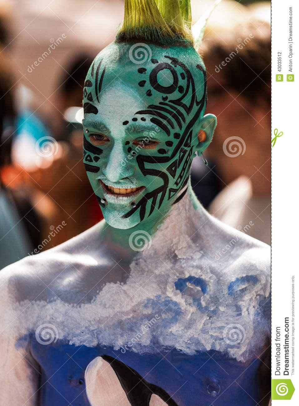 Naturist Body Painting : naturist, painting, Models,, Artists, Streets, During, First, Official, Painting, Event, Editorial, Photography, Image, America,, Naturist:, 43033512