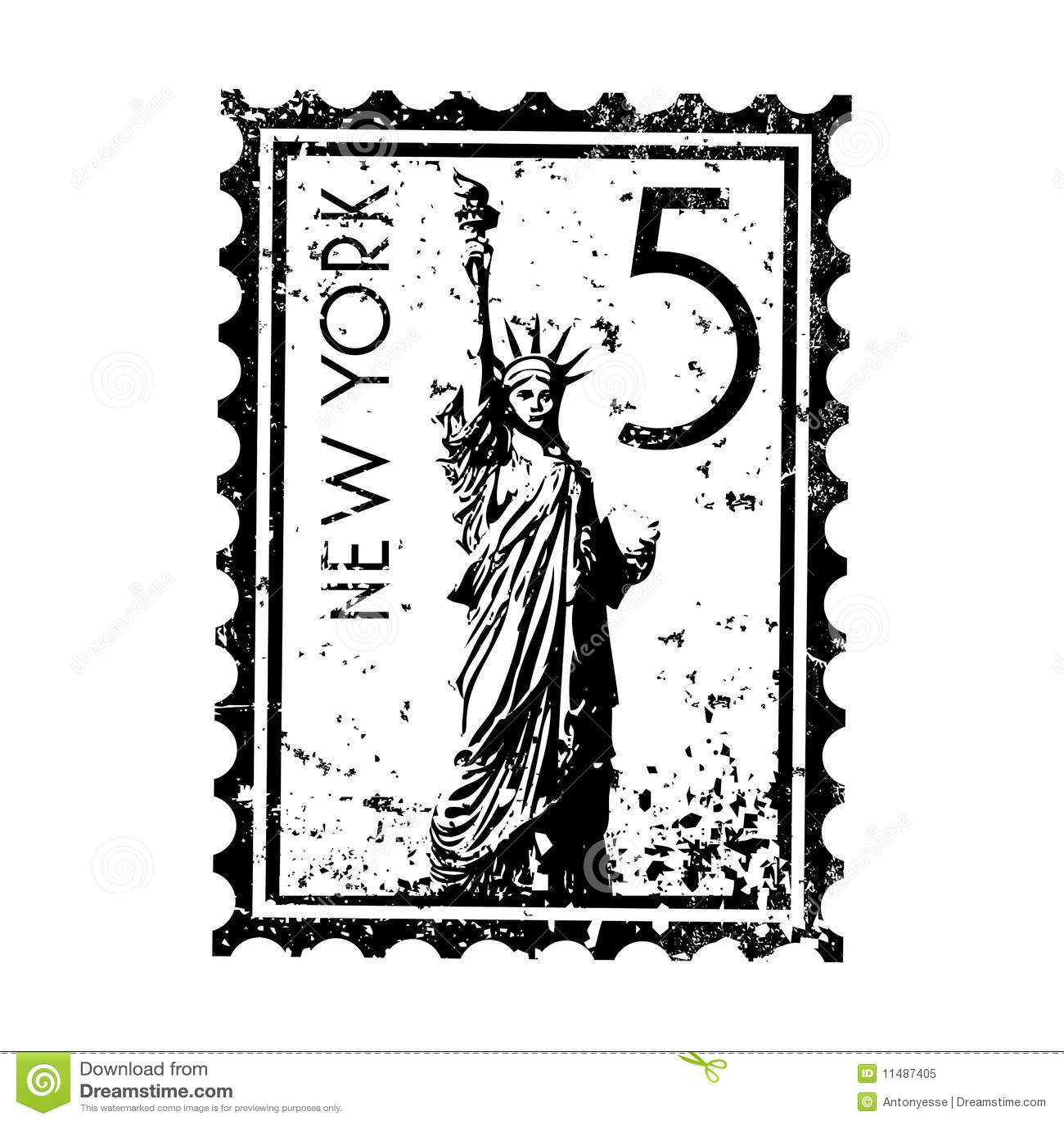 New York Stamp Or Postmark Style Grunge Stock Vector