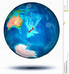 new zealand in red on model of planet earth hovering in space 3d illustration isolated on white background elements of this image furnished by nasa  [ 1065 x 1300 Pixel ]