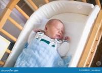 Newborn Baby Boy In Hosptal Cot Stock Photo - Image: 62608358