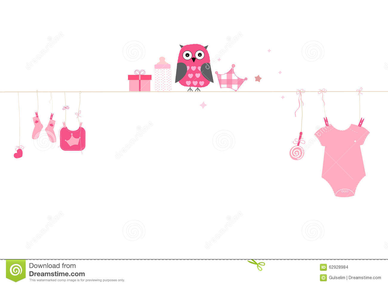 Newborn Baby Girl Wishes Wallpaper Newborn Baby Girl Symbols With Owl Baby Arrival Greeting
