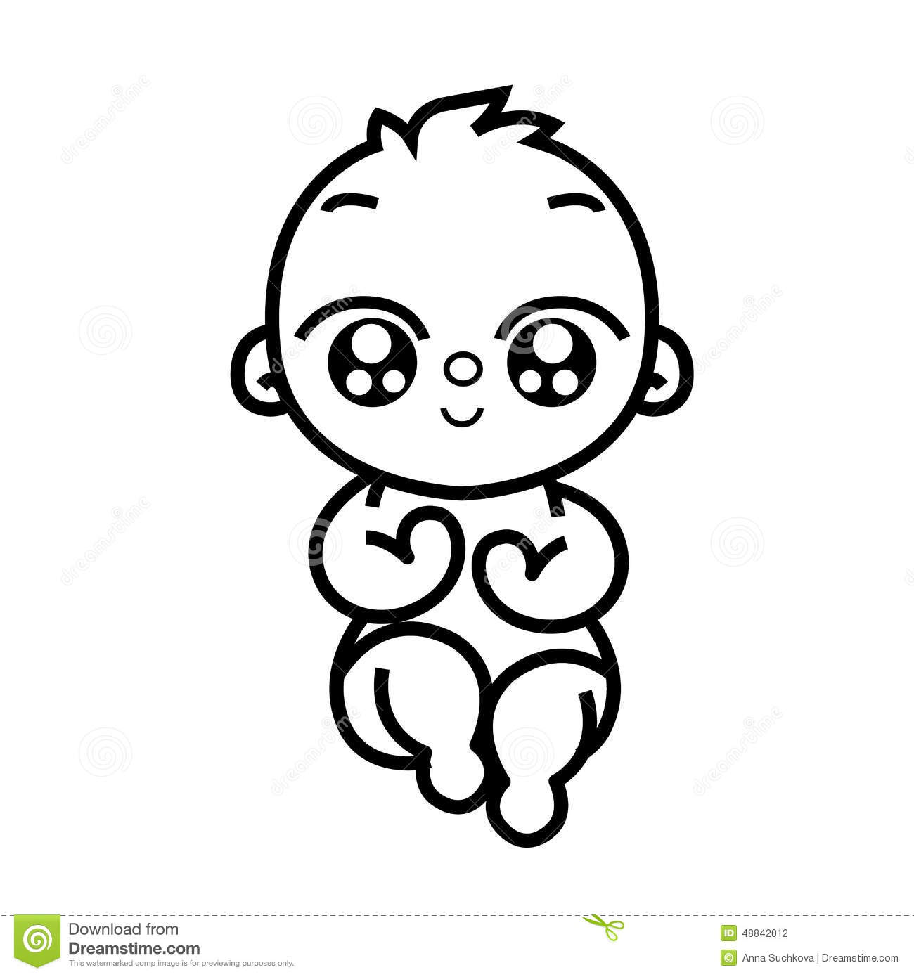 Newborn Little Baby Stock Vector