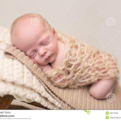 Baby Sleeping Chair Reception Area Seating Chairs Newborn On Stock Image Of Sleepy 49514849 Asleep And Taking A Nap Rustic Wood Posed Curled Up