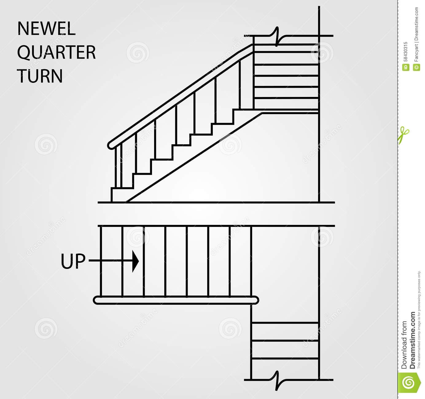 A Newel Quarter Turn Staircase Stock Vector Illustration Of   Quarter Turn Staircase Design   Winder Staircase   Oak   Turning   Oval Shaped   Modern
