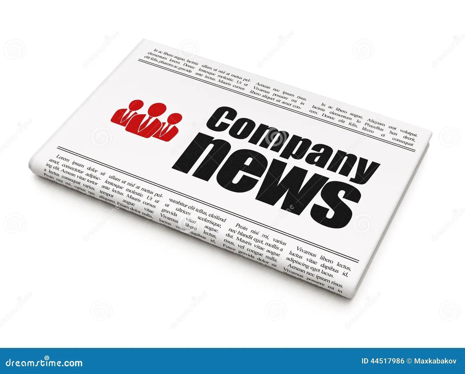 News News Concept: Newspaper With Company News And