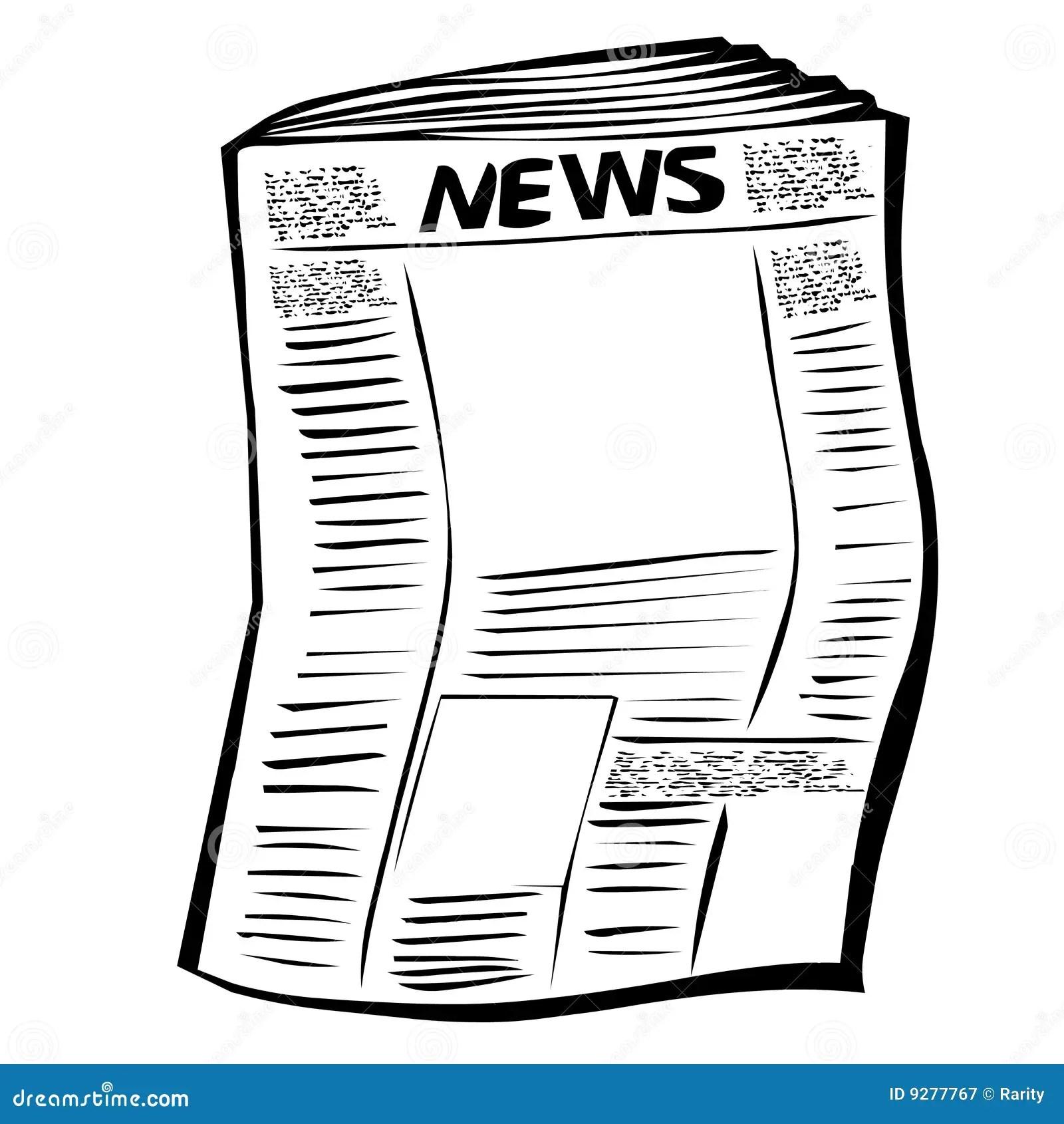 Newspaper Stock Illustration Image Of Important Document