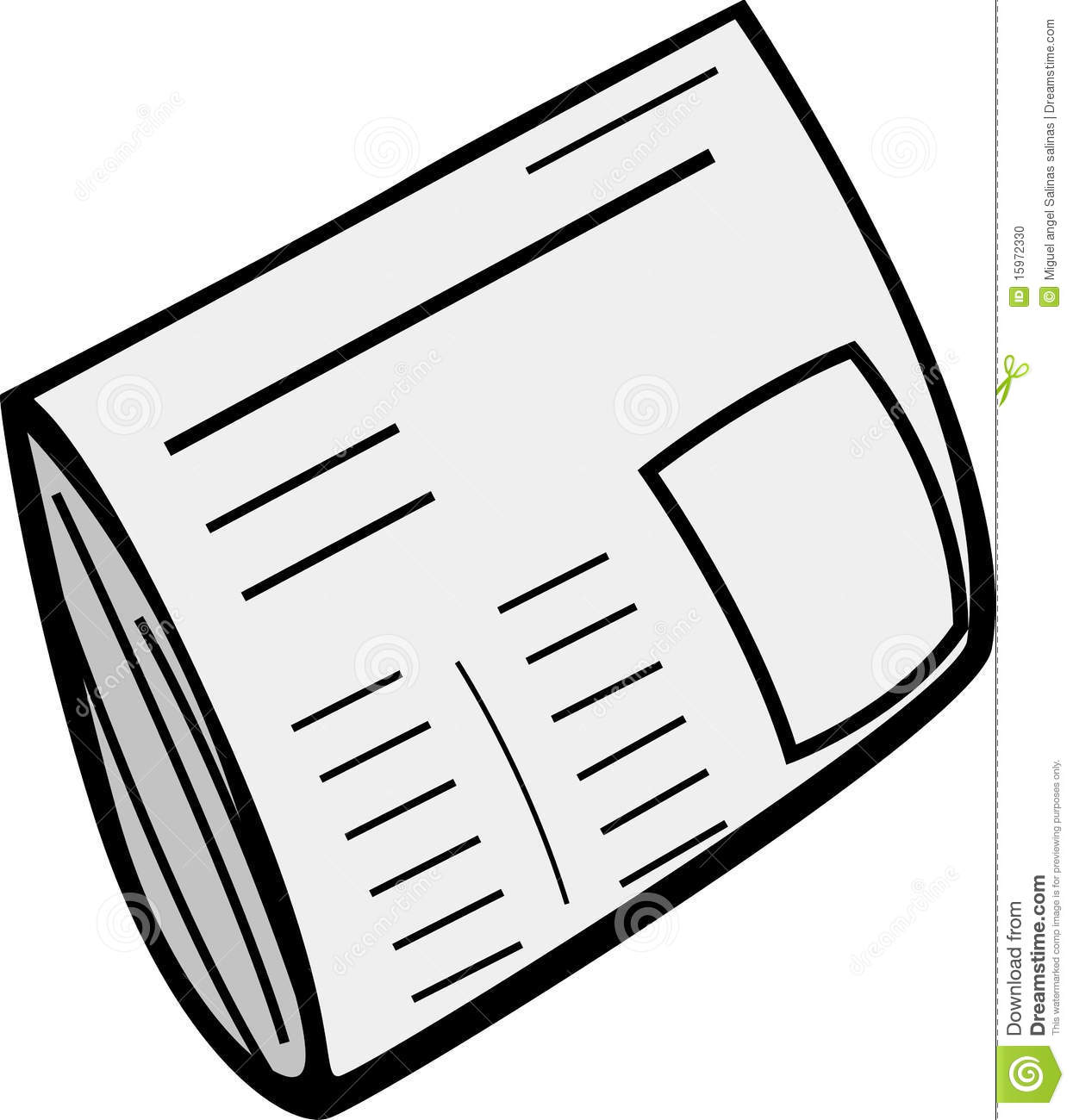Newspaper Vector Illustration Stock Vector