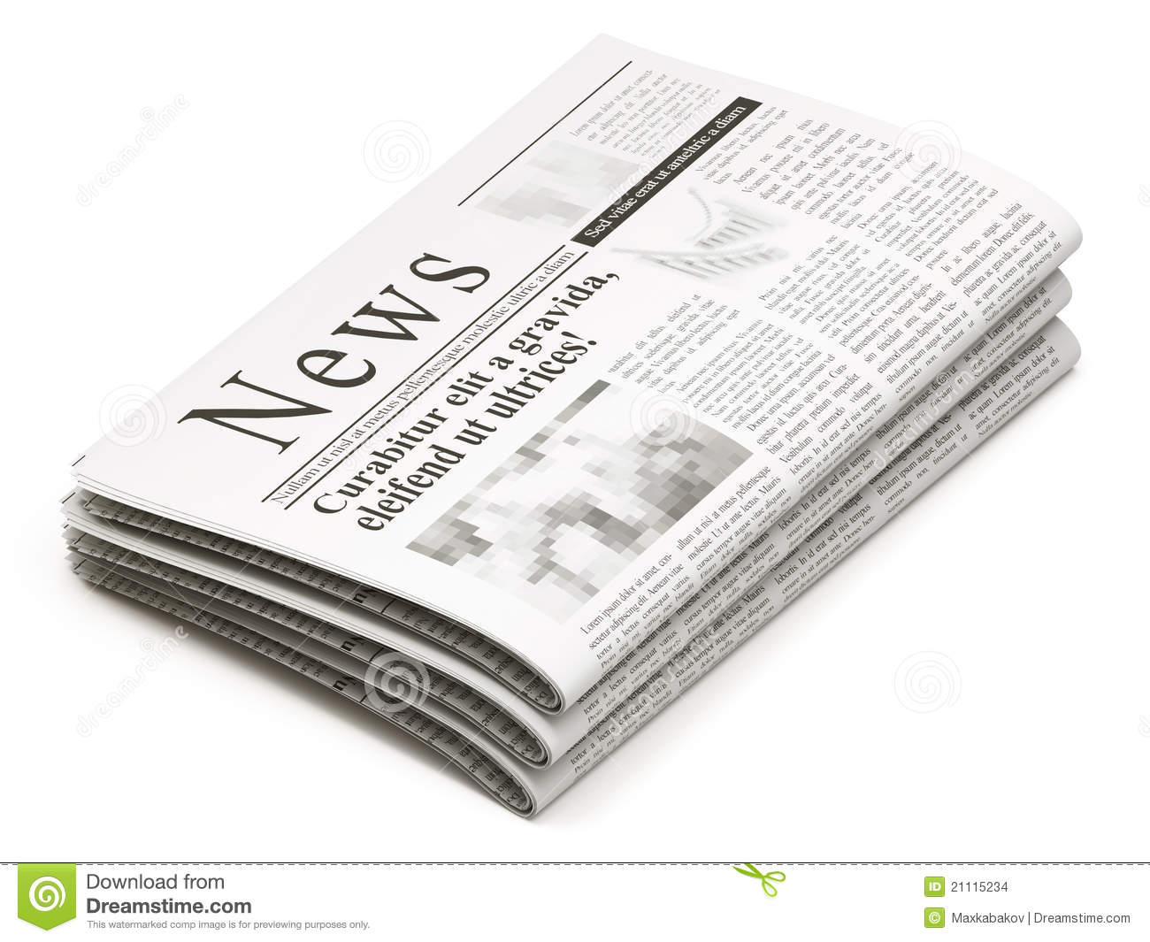 Newspapers Stack Stock Illustration Illustration Of Data