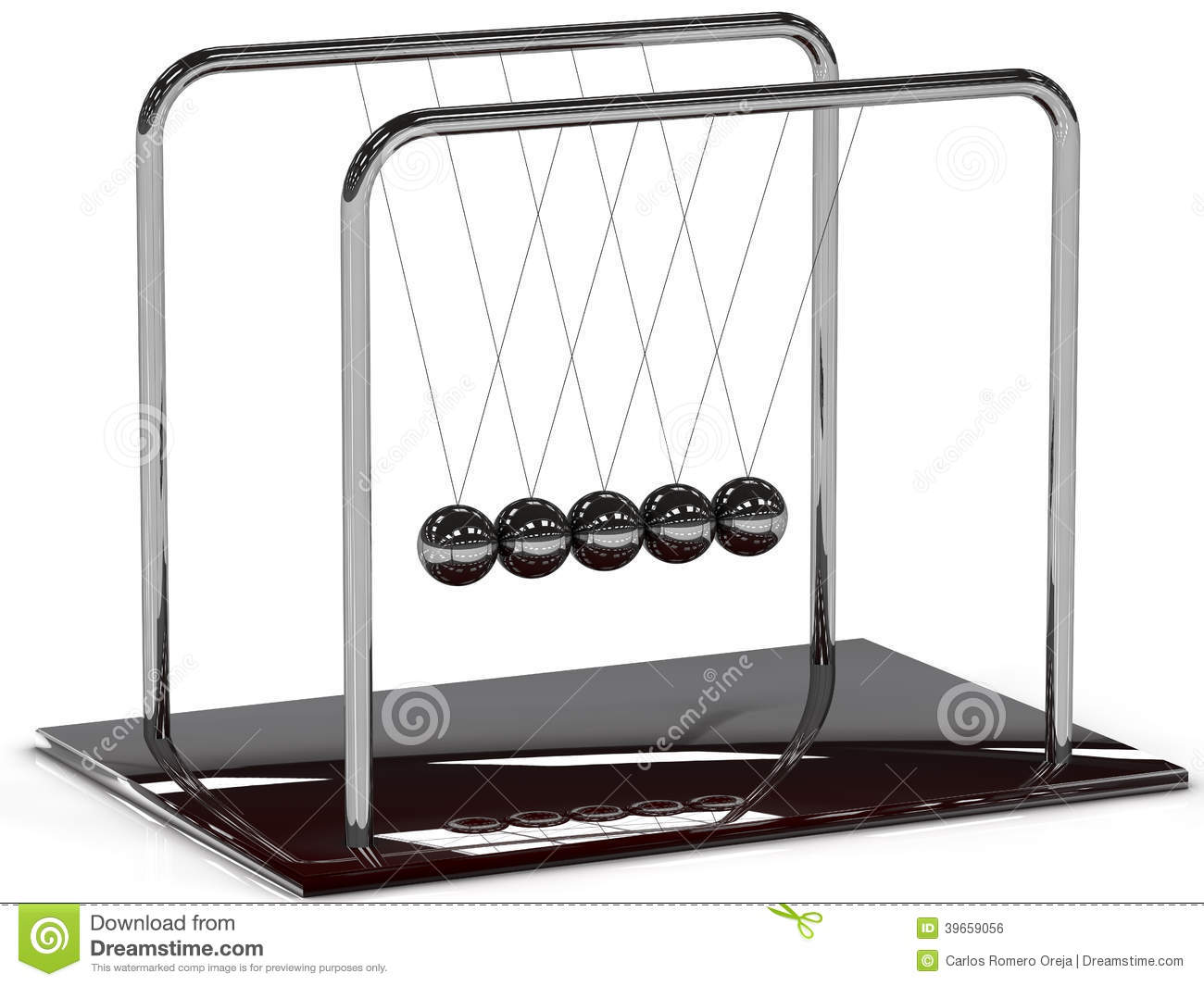 Newton Pendulum Stock Illustration