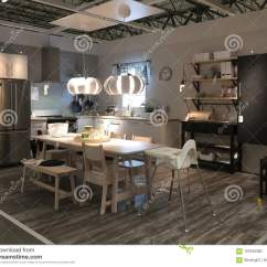Kitchen Furniture Store Red Islands Nice At Ikea America Editorial Image