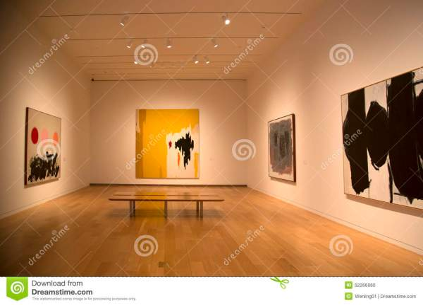 Nice Modern Art Museum Interior Editorial - Of