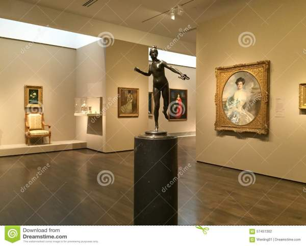 Nice Museum Of Fine Arts Interior Editorial