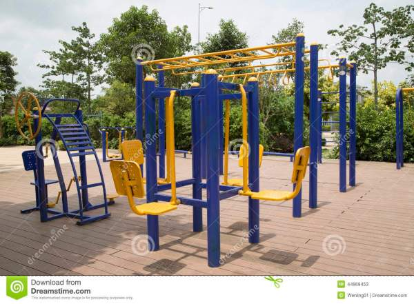 Nice Outdoor Gym Background Stock Photo Image 44969453