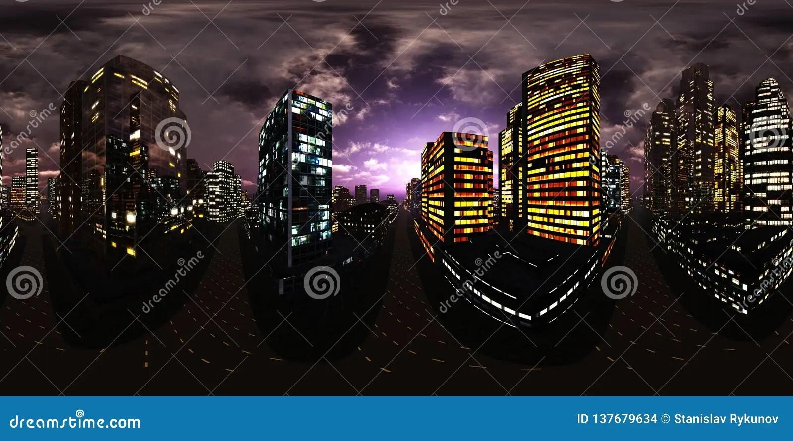 night city night skyscrapers