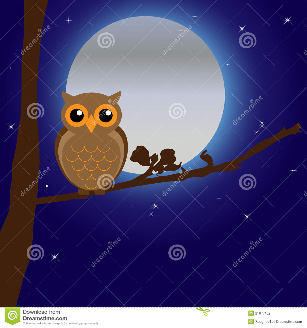 Night Owl By Moonlight Stock Photography  Image 21877102