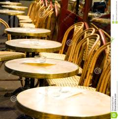 Coffee Shop Chairs Outdoor Metal Night Paris France Cafe Tables Stock Image - Image: 14572823