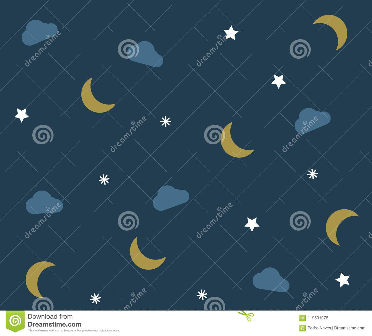 night pattern with clouds