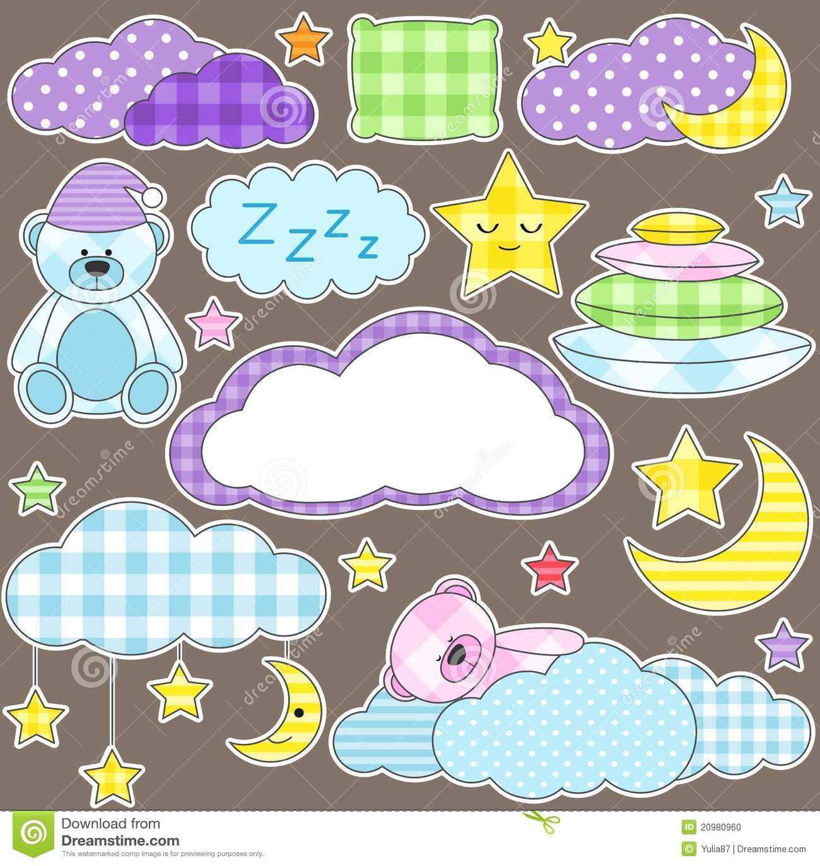 Night Stickers Stock Photo  Image 20980960