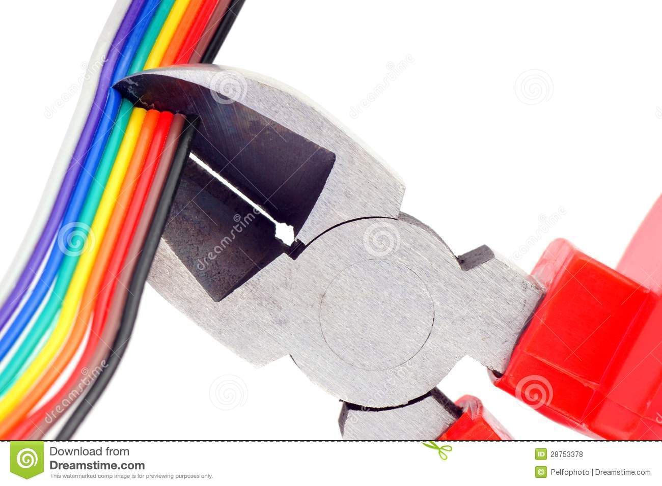 hight resolution of nippers cutting wires