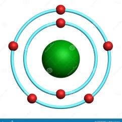 Bohr Diagram Of Oxygen Whelen Edge 9000 Wiring Nitrogen Atom On White Background Stock Illustration